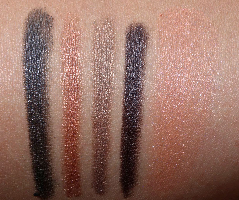 Chanel Waterproof Eyeliners in 914 Feuilles, 918 Ardent, 919 Erable and 921 Pomme de Pin; Illusion D'Ombre in Rouge-George