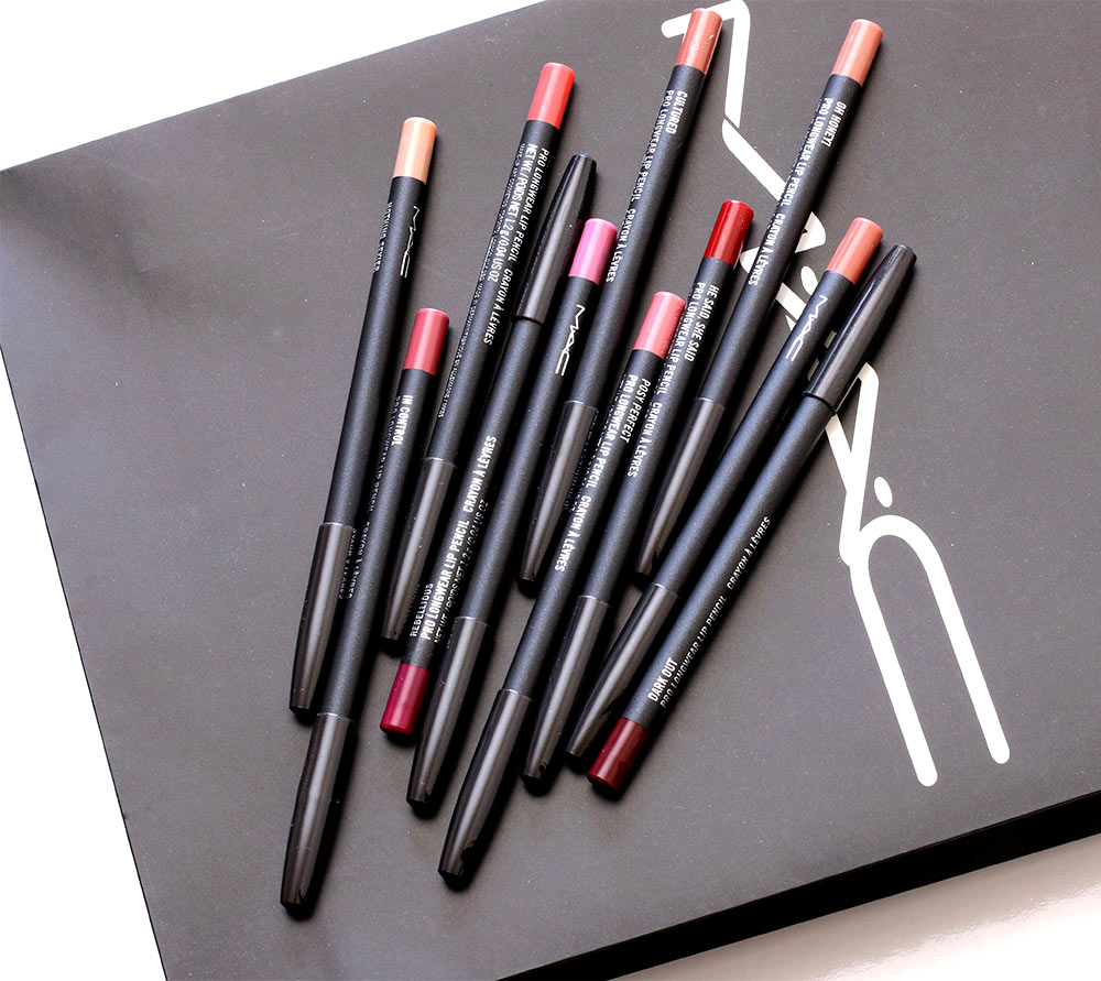 mac vamplify pro longwear lip pencils
