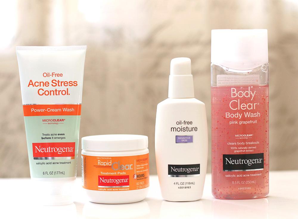 neutrogena skin steps acne makeup clearer beauty campaign care control makeupandbeautyblog sponsored stress treatment step body regimen salicylic acid breakouts