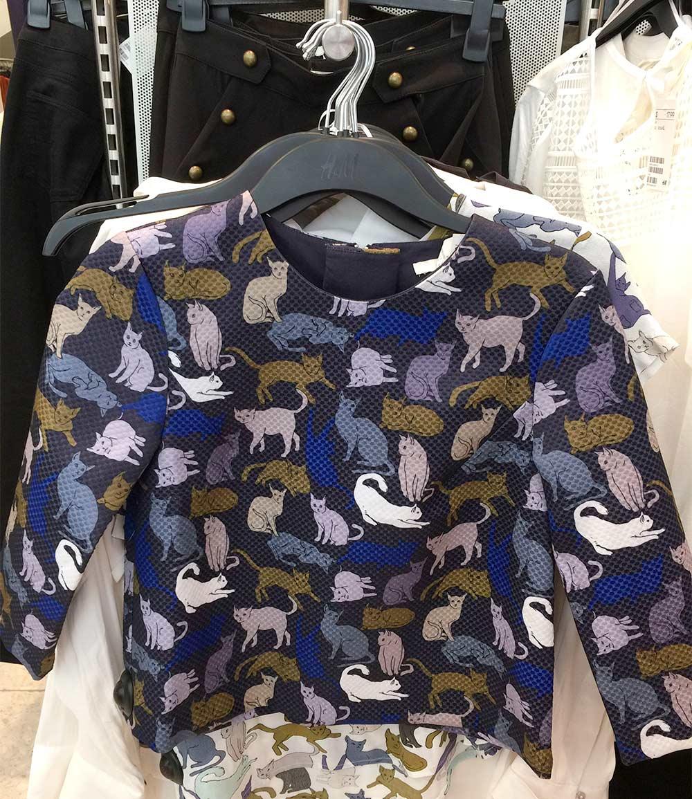 hm cat clothes top