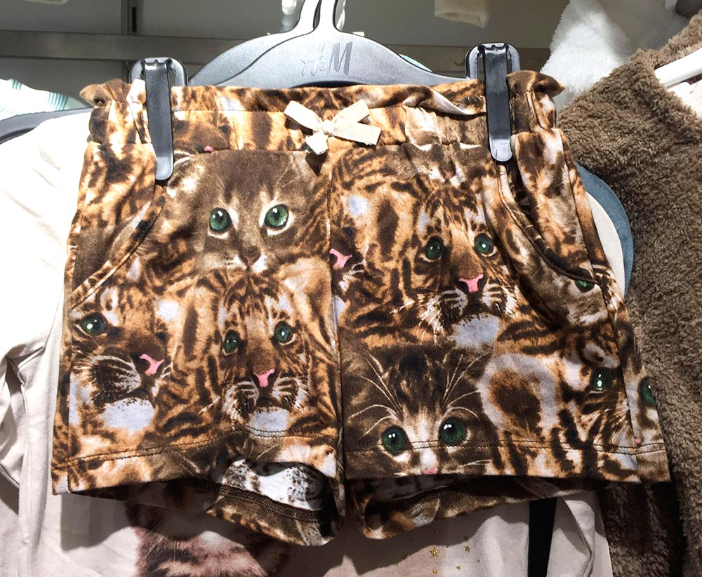 hm cat shorts
