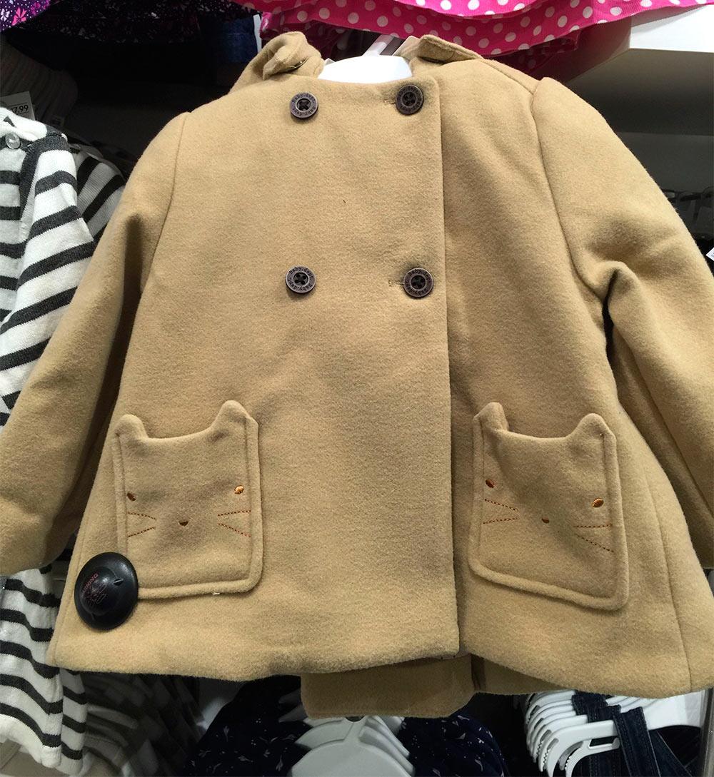 hm tan coat cat pockets