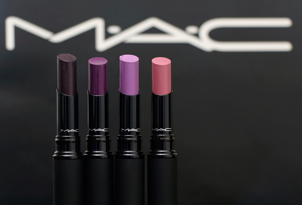 MAC MACnificent Me Mattenes from the left: Power My Spirit, Own the Look, Strutting Fabulous and Personal Pink ($19 each)