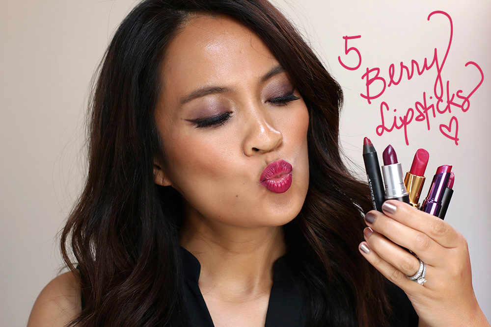 5 berry lipsticks for fall
