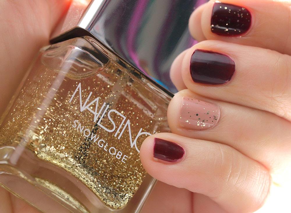 nails inc snow globe swatch