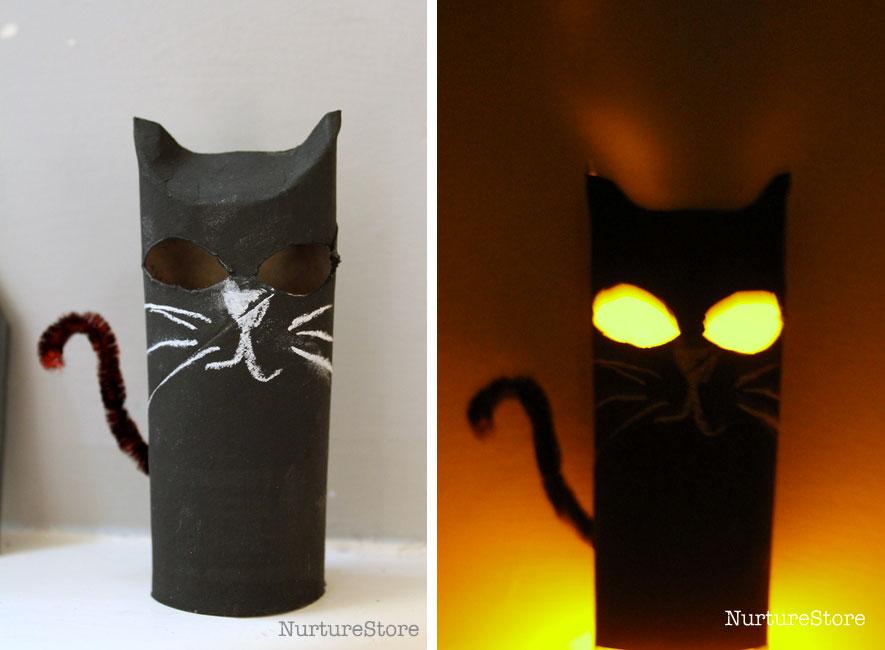 Glow in the dark DIY cat lanterns