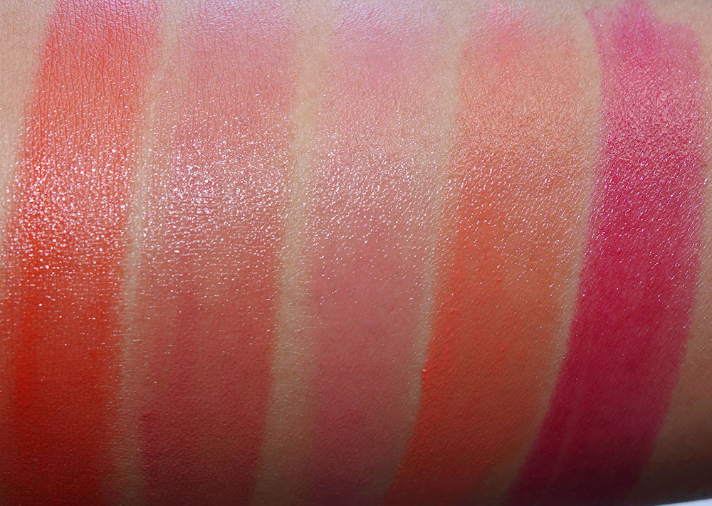 clarins joli rouge swatches