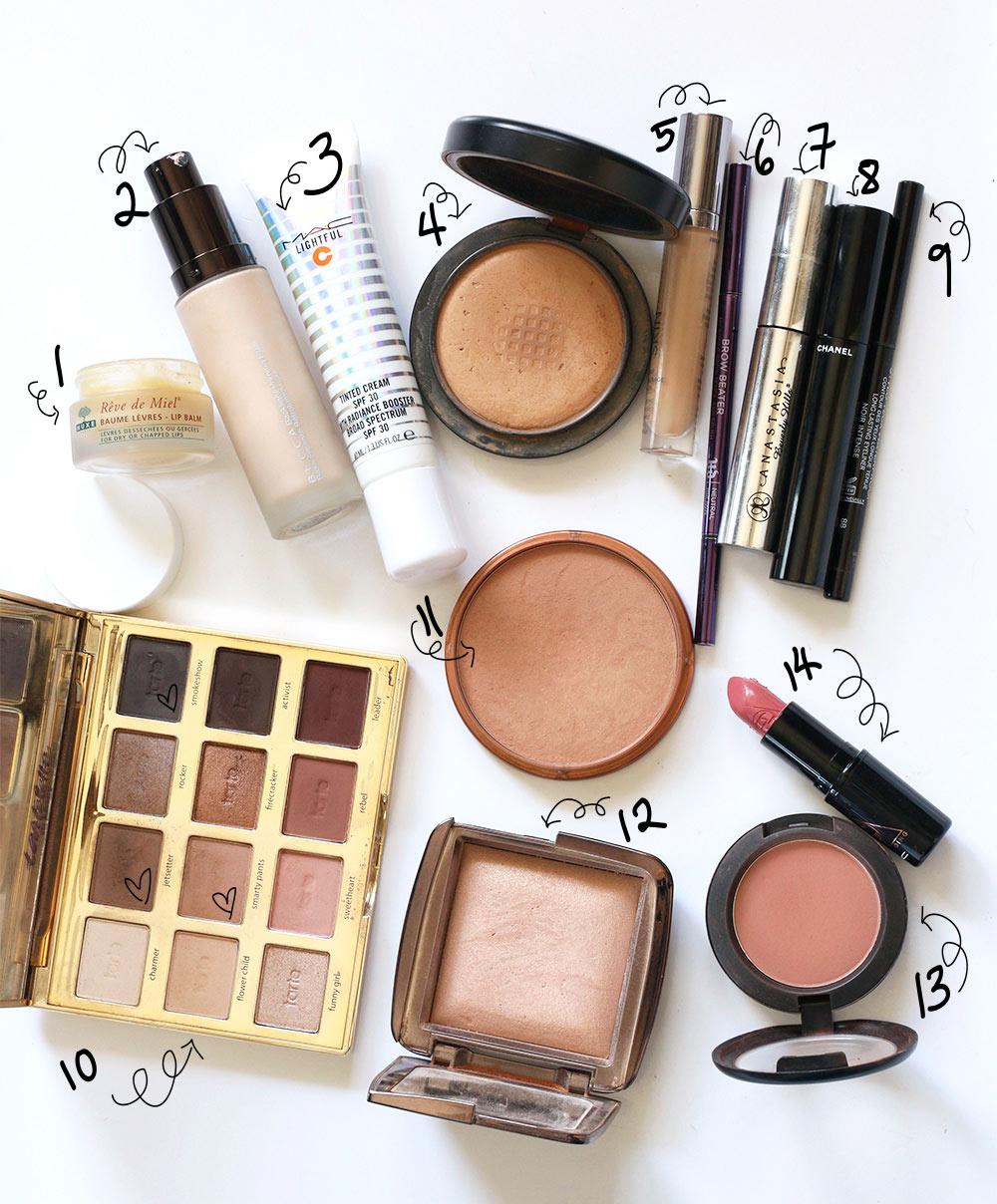 december minimal makeup