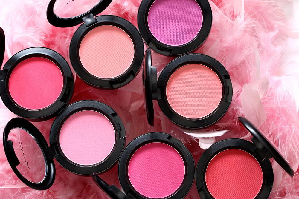 mac flamingo park powder blushes