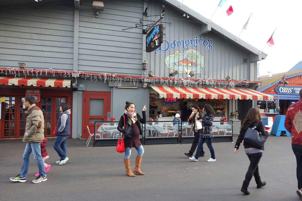 So many restaurants there on Monterey's Fisherman's Wharf, and this place serves a delicious lunch