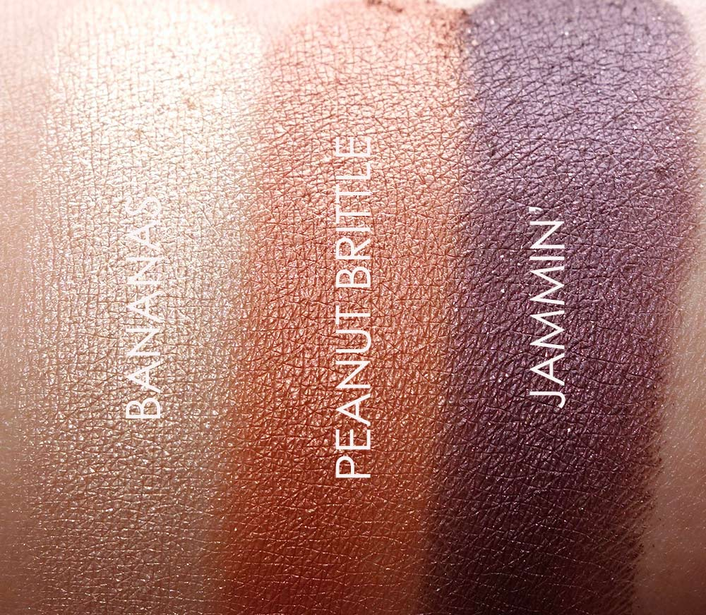too faced peanut butter jelly swatches 2