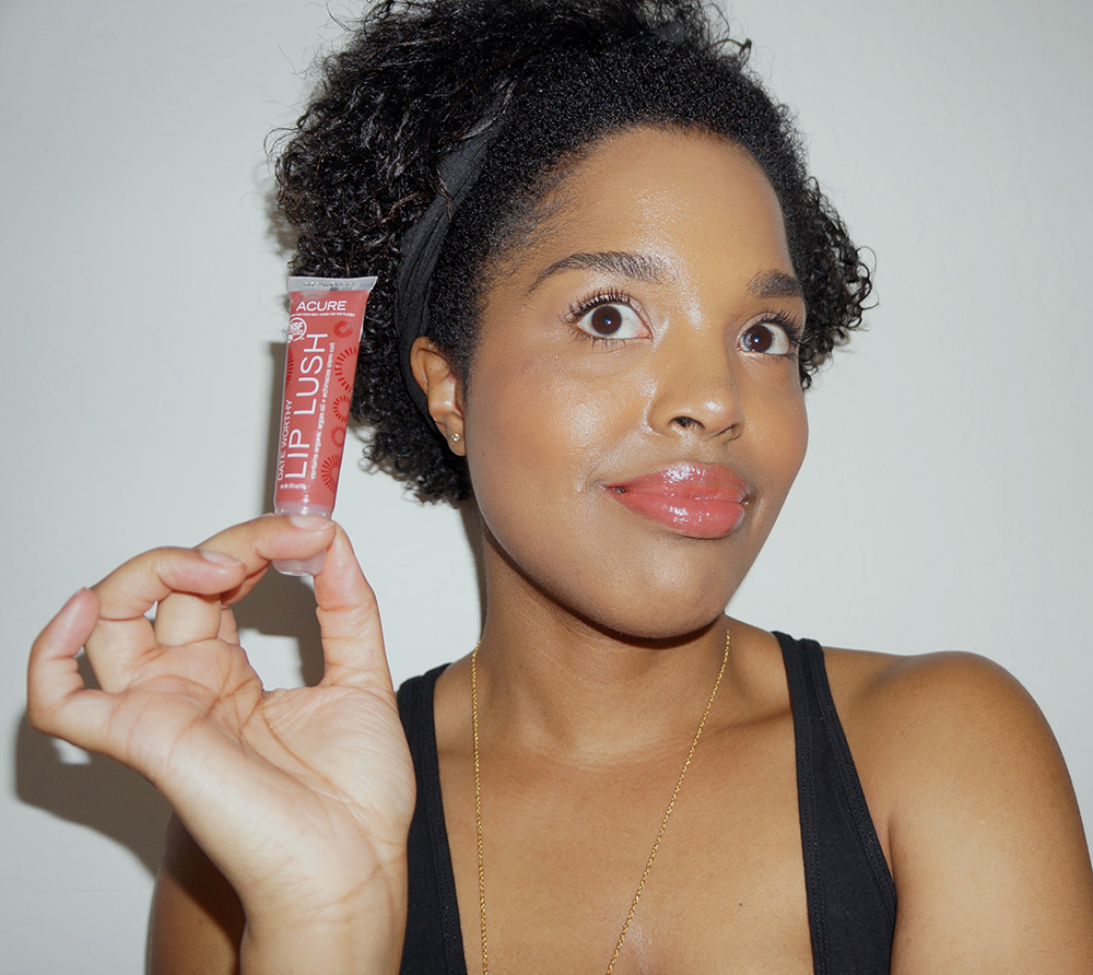 acure organics lip gloss
