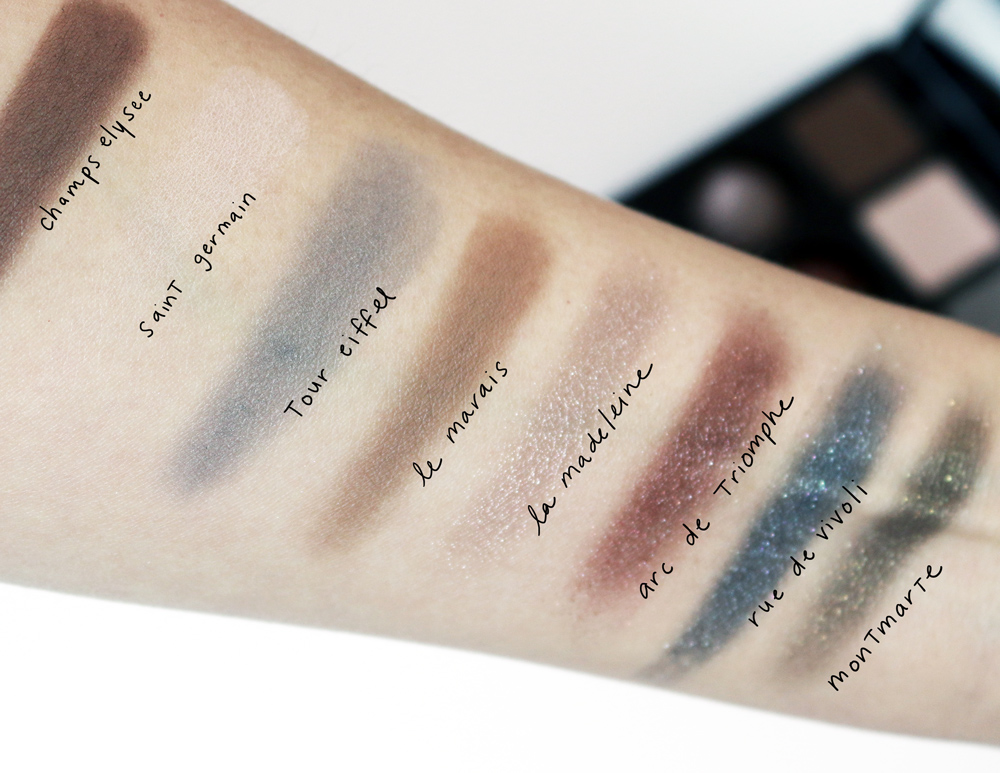 laura mercier paris in the rain palette swatches spring 2016