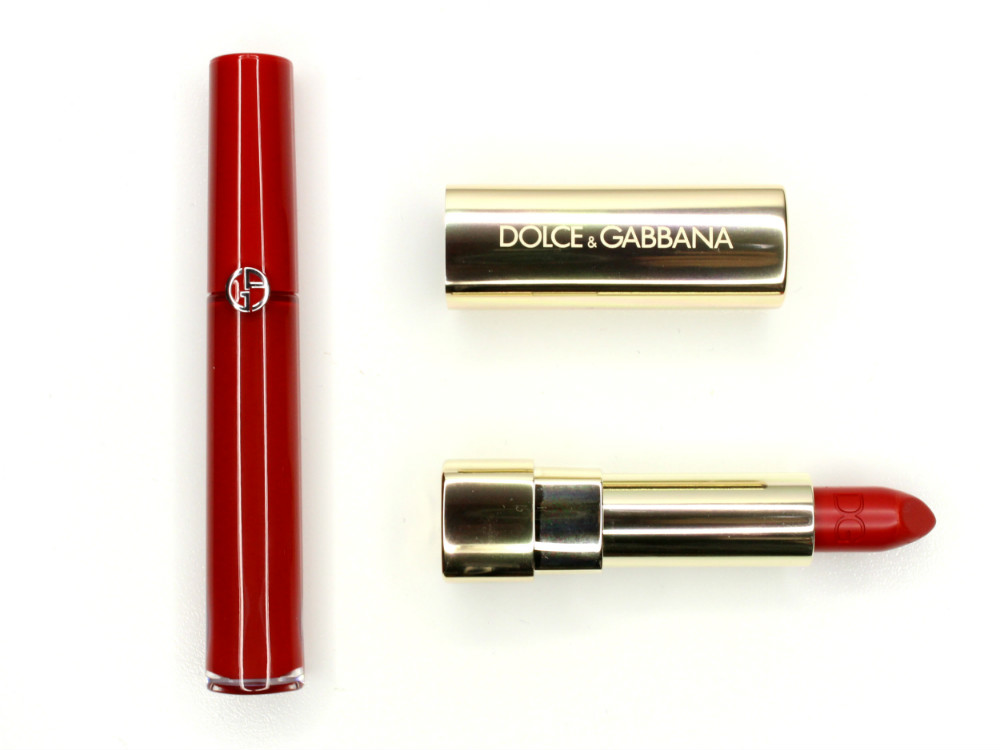 Giorgio Armani Lip Maestro 400 The Red Dolce & Gabbana Classic Cream Lipstick Devil 620