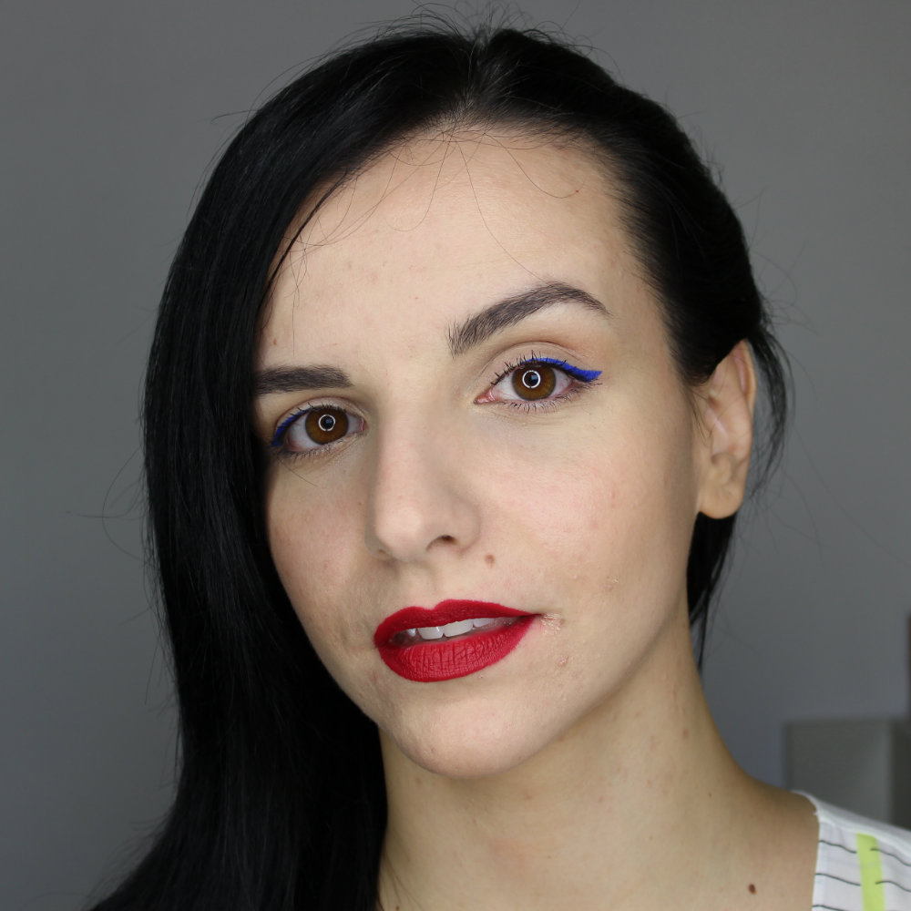 NABLA Diva Crime Lipstick Alter Ego Lip Swatch