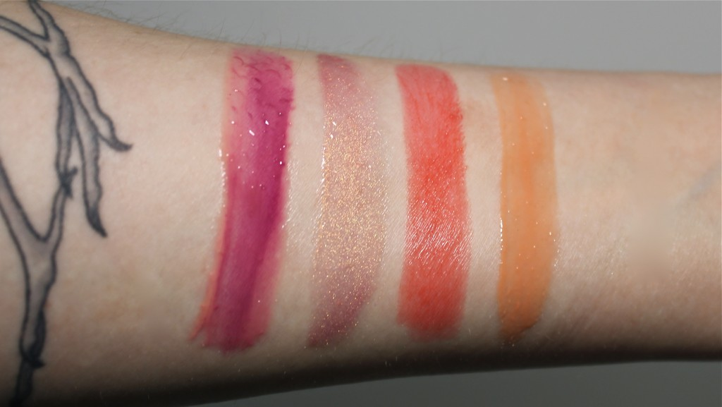Buxom Full On Lip Cream White Russian mixed with MAC Rebel Lipglass swatches