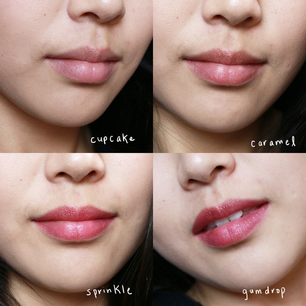 covergirl oh sugar vitamin infused balm lip swatches