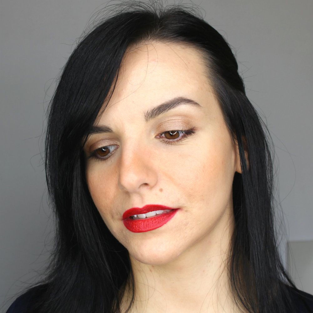 KIKO Velvet Mat Satin Lipstick 607 Passion Red Swatch