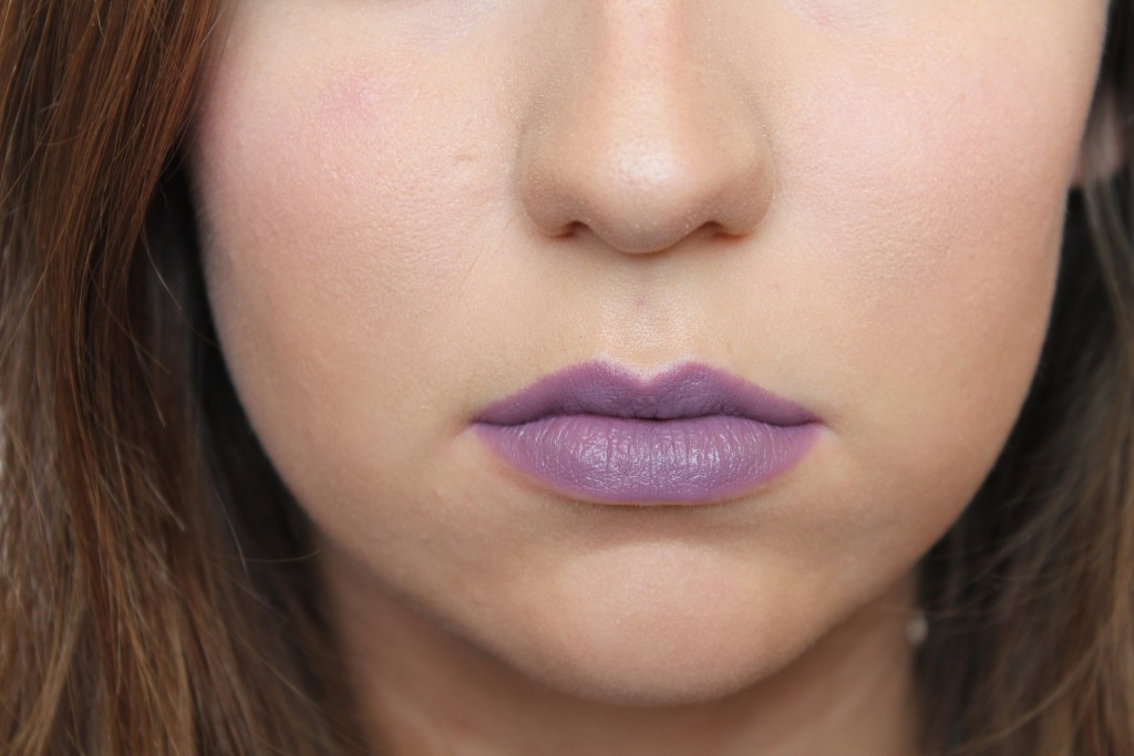 Chris Chang x MAC Plum Princess Lipstick on the lips