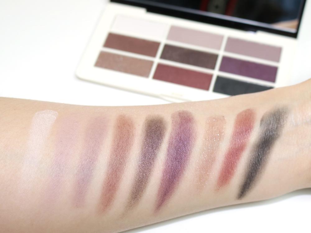 hm aubergine dream eyeshadow palette swatches