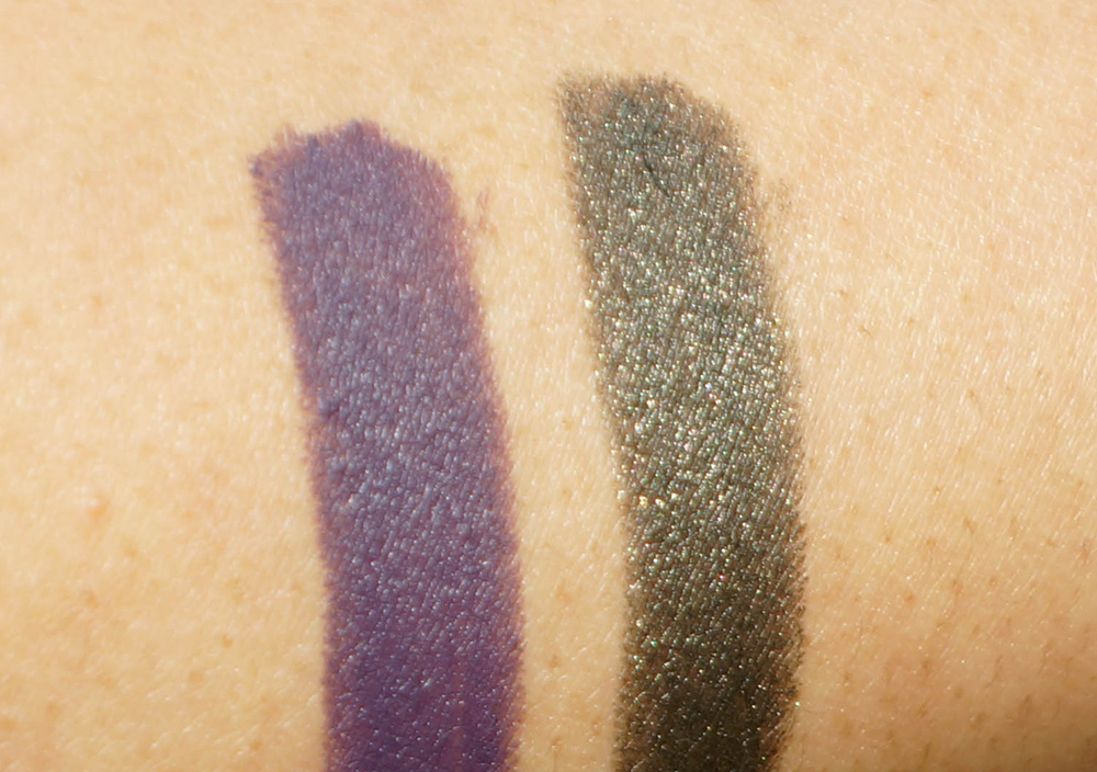 L to R: NARS Velvet Shadow Stick in Nunavut and Aigle Noir