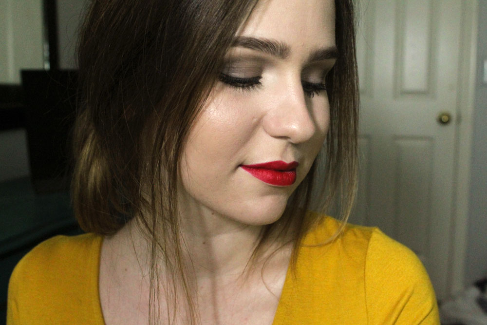 """The Body Shop lip liner in """"Rosy Red"""""""