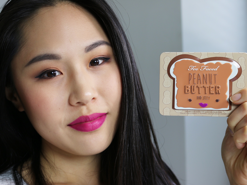 too faced peanut butter on eyes