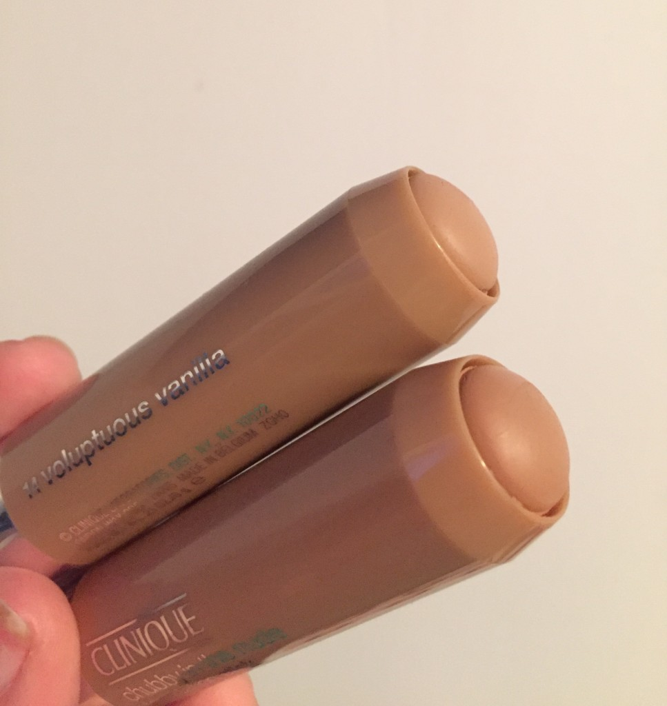 clinique foundation stick, chubby in the nude,
