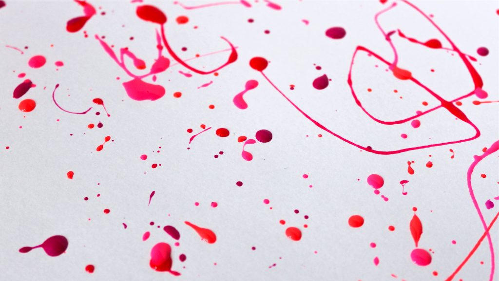 Splatter art with Let's Not Coral, Wrapped Around My Pink-y, Tropicool Punch and Back to the Fuchsia