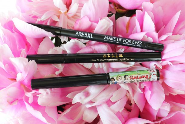 Makeup forever xl aqua eyeliner stila liquid eyeliner the balm schwing
