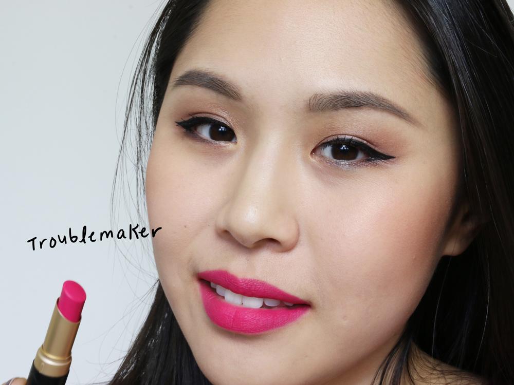 too faced la matte lipsticks troublemaker