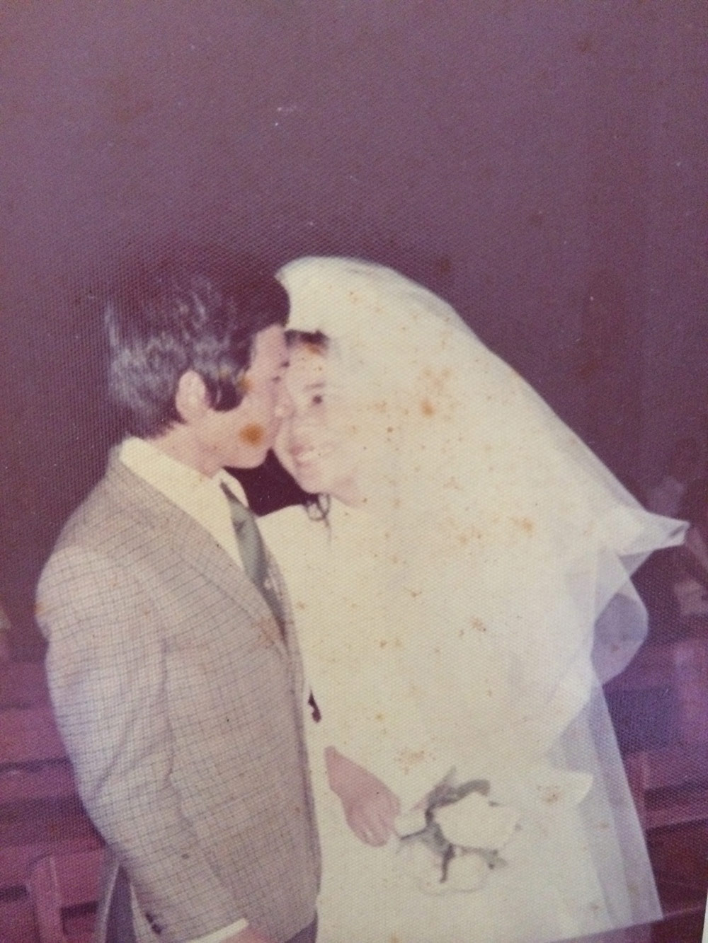 My dad and mom on their wedding day