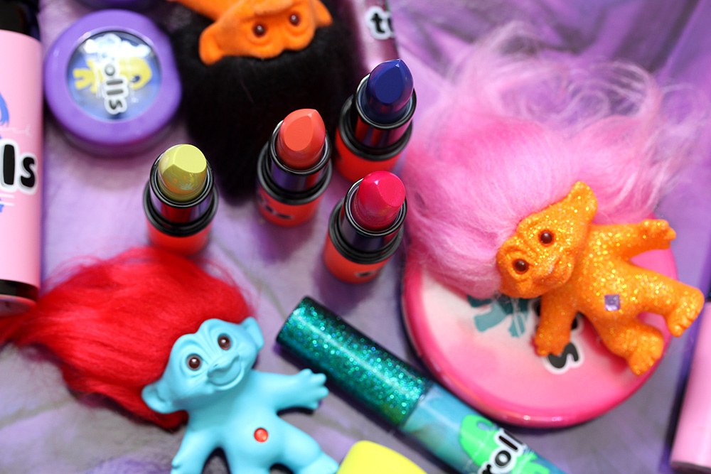 mac good luck trolls lipsticks