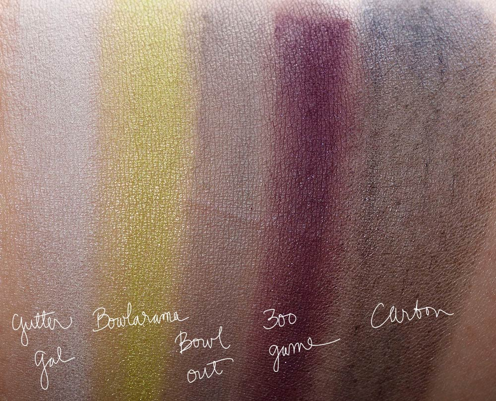 mac its a strike swatches-eyeshadows