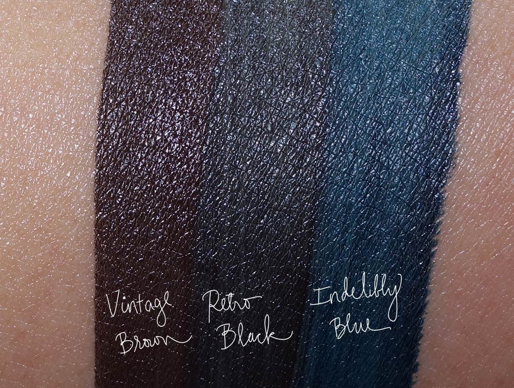 mac its a strike swatches-fluidlines