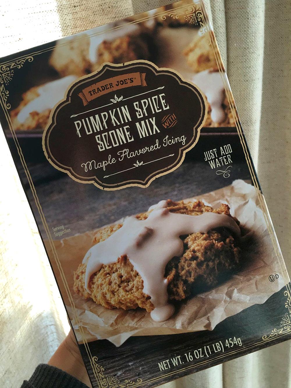 trader joes pumpkin spice scone mix