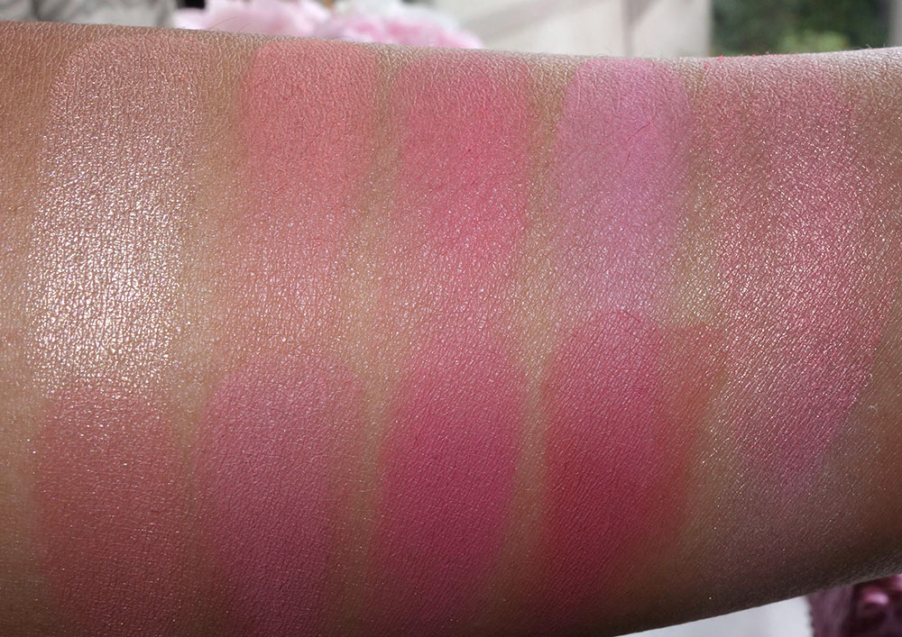 Swatches of the Color Wheel Blush Palette