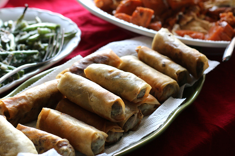 Lumpia, the Filipino version of an egg roll