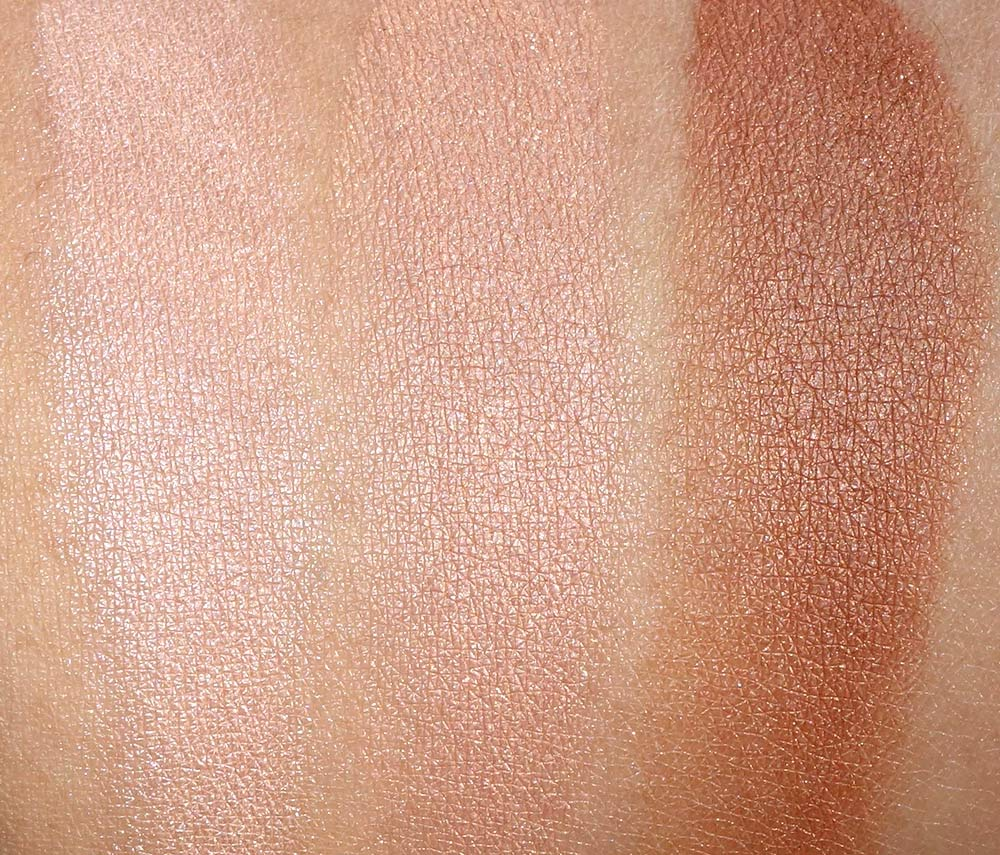 clinique up lighting powder swatches