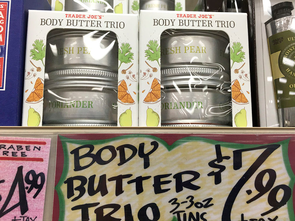 trader joes body butter trio