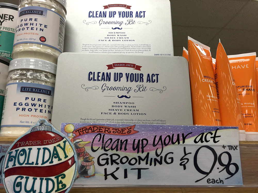 trader joes clean up your act grooming kit