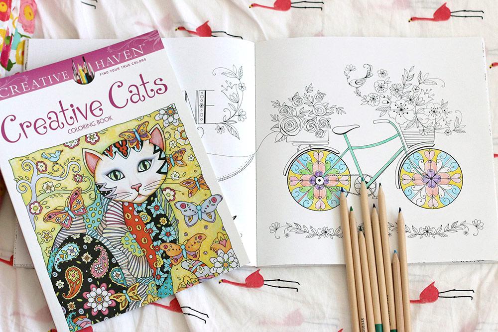adult coloring books bike