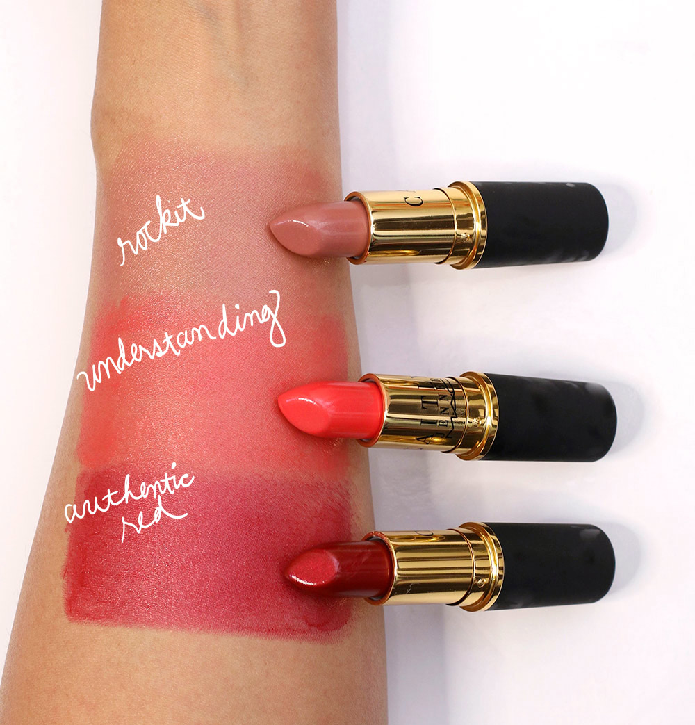mac caitlyn jenner swatches lipsticks