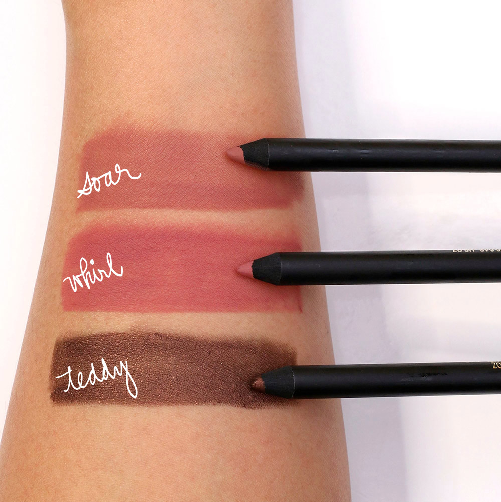 mac caitlyn jenner swatches pencils