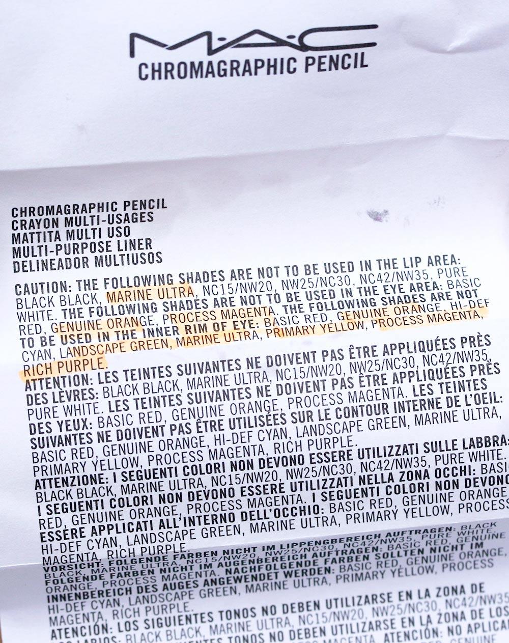 mac chromagraphic pencil insert