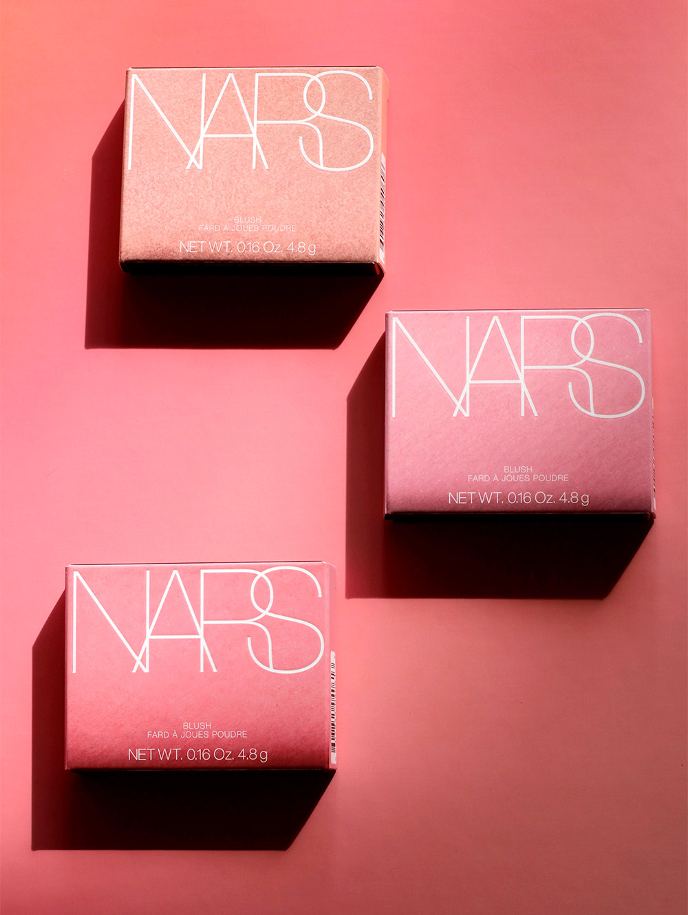 nars pop goes the easel blush boxes