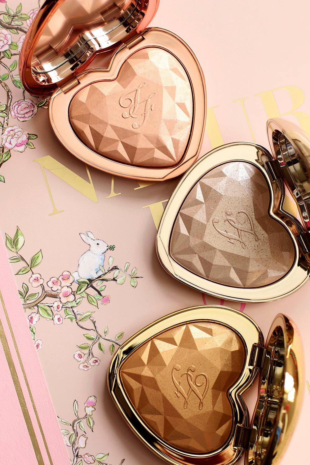 The New Too Faced Love Light Prismatic Highlighters In Ray