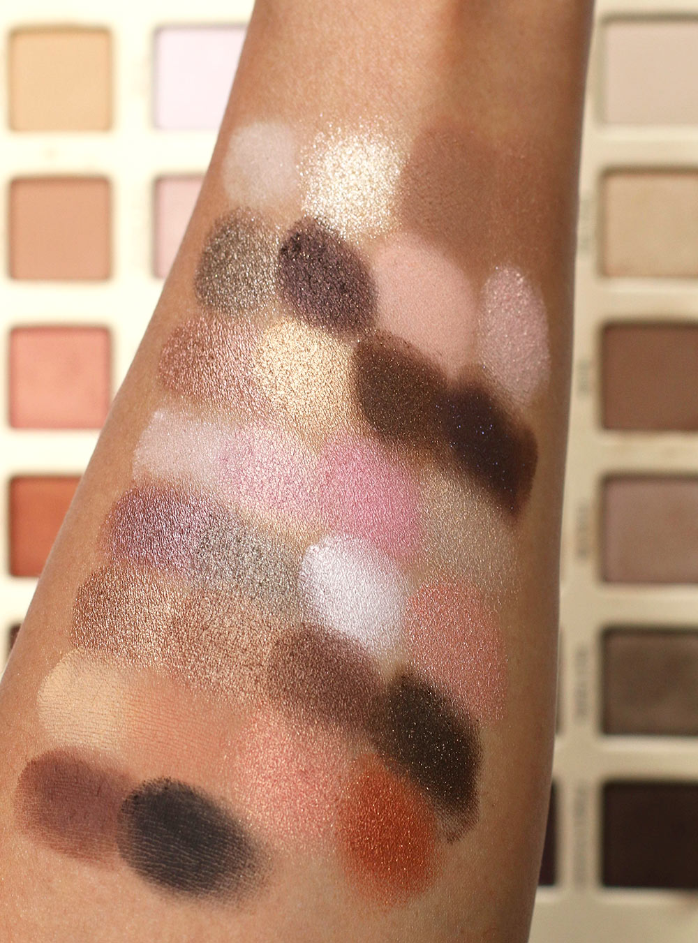 too faced natural love palette swatches