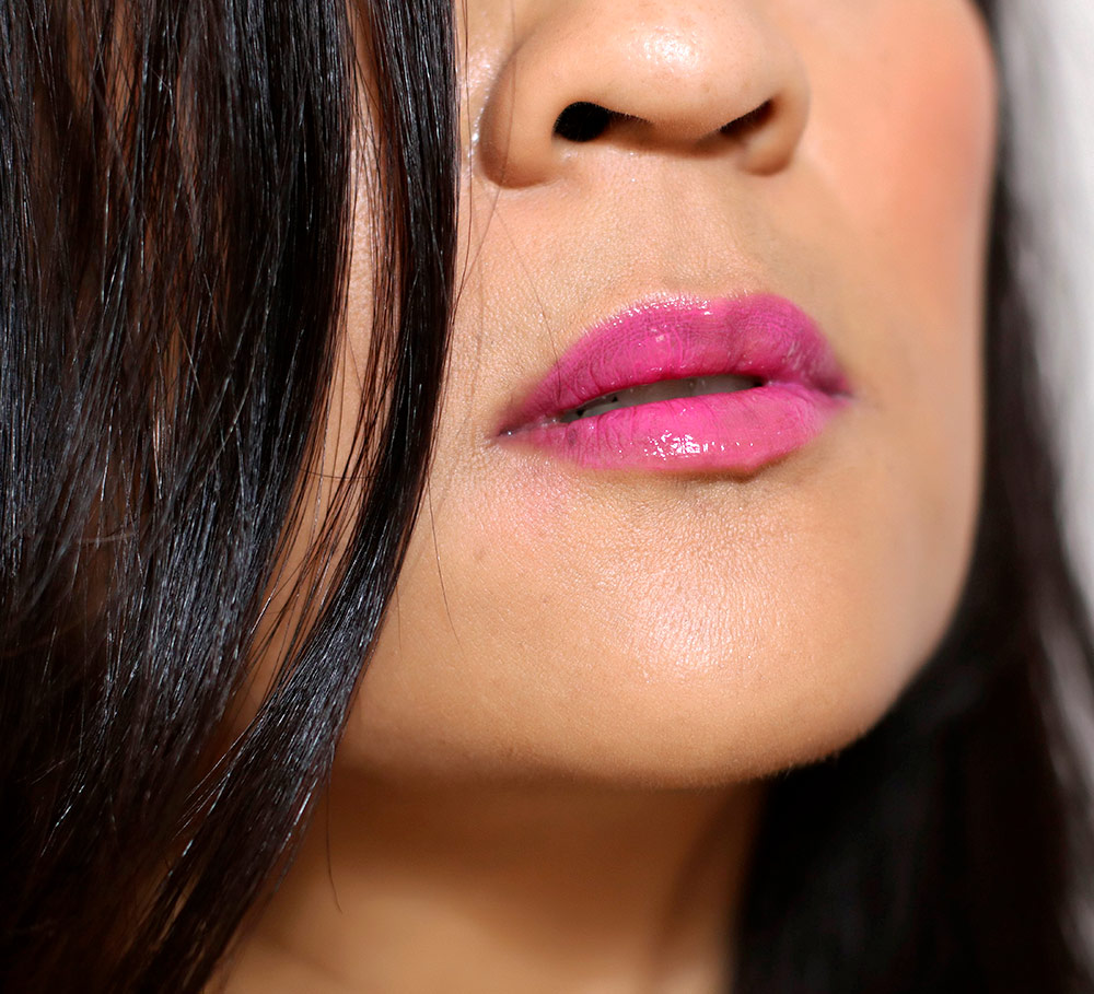 mac min liu peach blossom pink lipglass