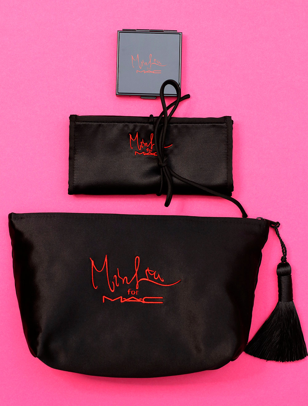 mac min liu pearlmatte brush bag makeup bag